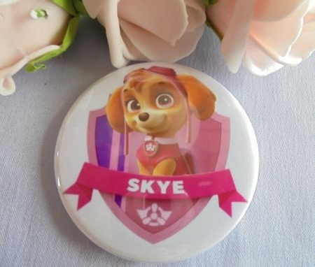 button paw patrol skye ca 58 mm