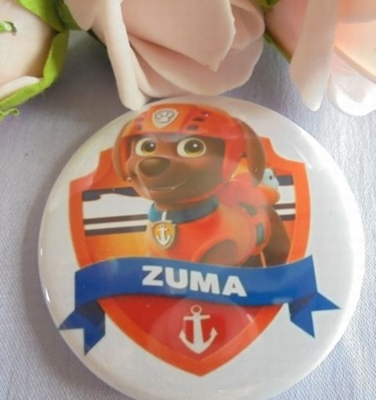 button paw patrol zuma ca 58 mm