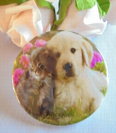 button puppy en kitten samen  ca.58 mm