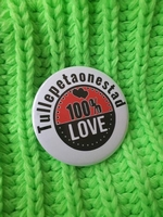 carnaval button tullepetaonestad 100% Love