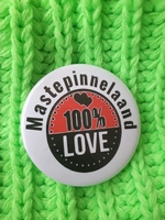 carnaval button mastepinnelaand 100% Love