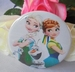 button frozen  elsa , anna en olaf zomer 58 mm